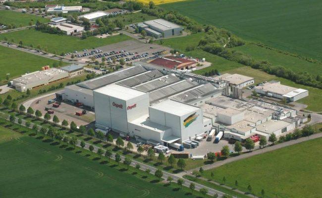 Ospelt food GmbH Produktion Luftbild