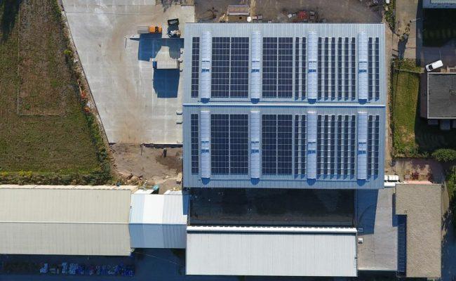 Homberger GmbH Aufdach-Solaranlage